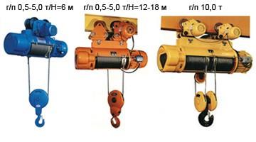 Тельфера электрические грузоподъемностью от 0.5тн до 20тн