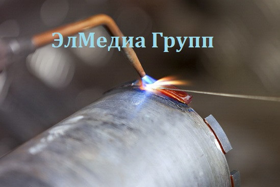 Напайка алмазных сегментов на любые диаметры коронок алмазного бурения