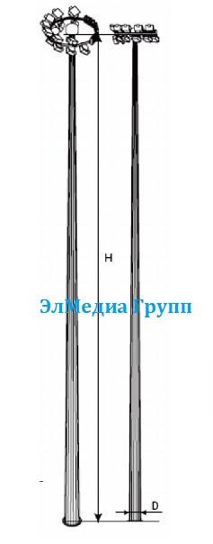Мачта с мобильной короной МГФ-16, МГФ-20, МГФ-25, МГФ-30, МГФ-35