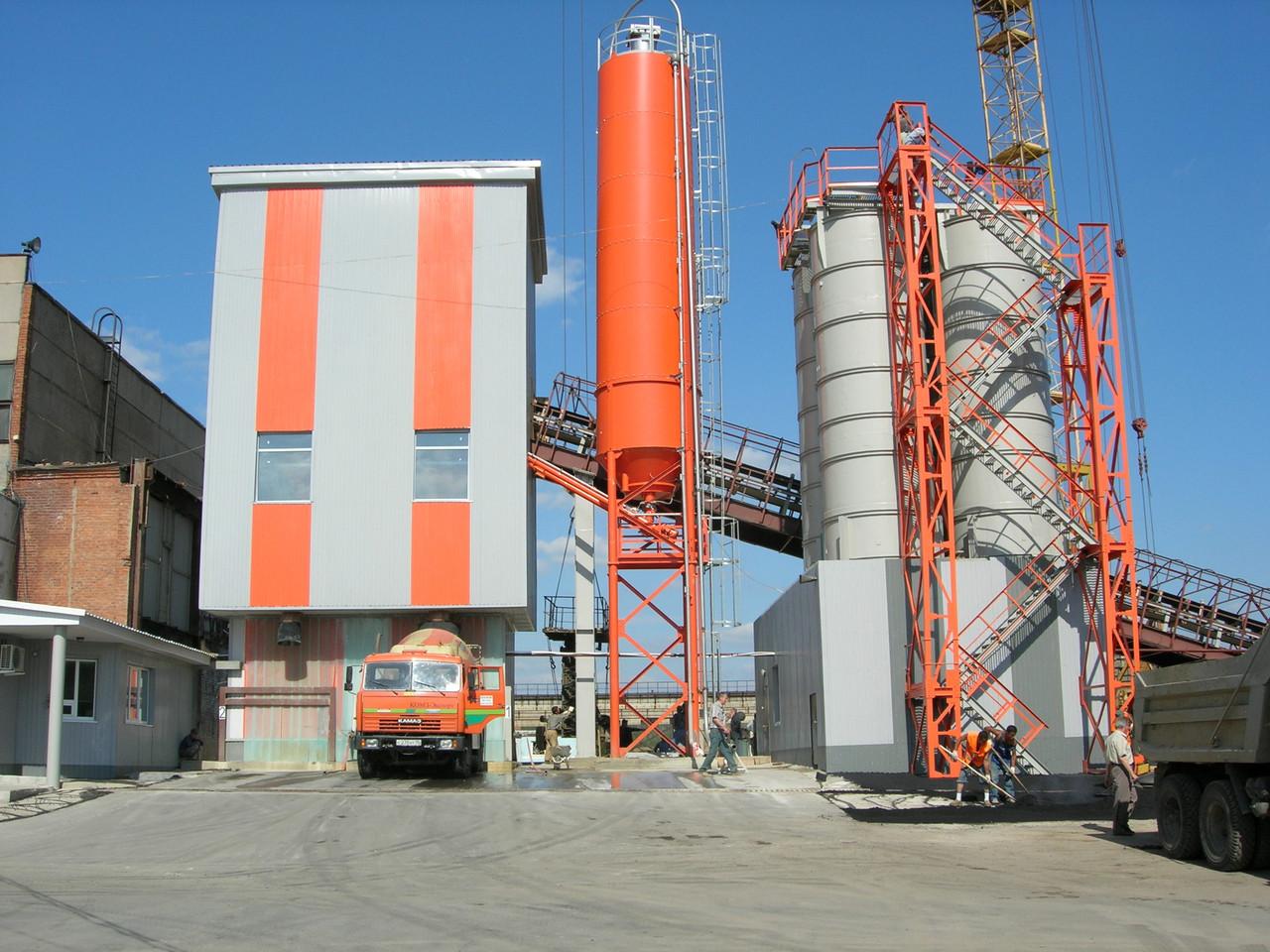 Бетонные заводы, асфальтовые , для приготовления смесей.