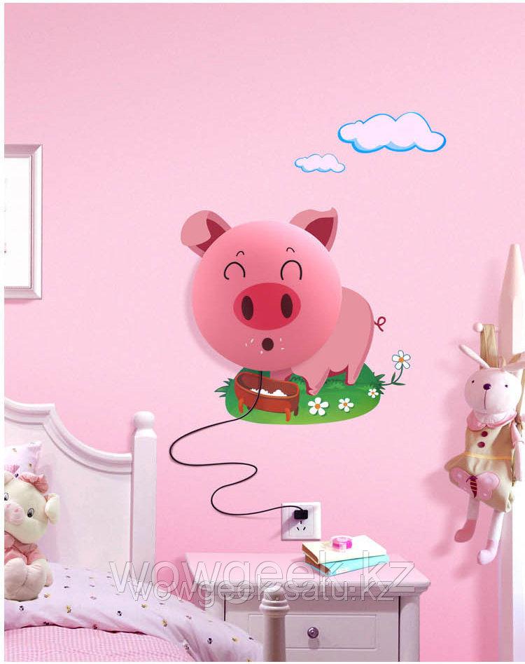 """Настенный светильник 3D """"Розовый поросенок"""""""
