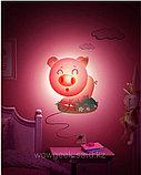 """Настенный светильник 3D """"Розовый поросенок"""", фото 2"""