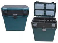 Ящик рыболовный зимний Helios 19 л, 130кг, сиденье, 2секции