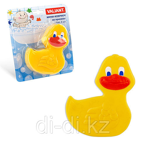 VALIANT Детский мини коврик для ванной комнаты УТОЧКА (на присосках)
