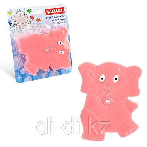 VALIANT Детский мини коврик для ванной комнаты СЛОНИК (на присосках)