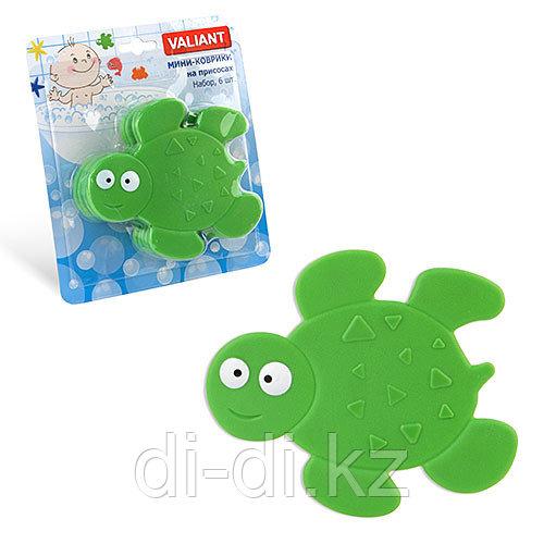 VALIANT Детский мини-коврик для ванной комнаты ЧЕРЕПАШКА (на присосках)