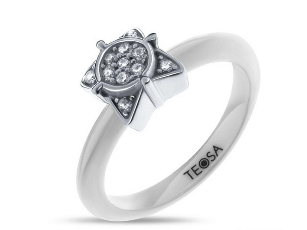 Серебряное  кольцо с керамики