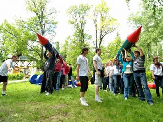 Спортивный Аттракцион «Надувная Ракета» для корпоратива и тимбилдинга
