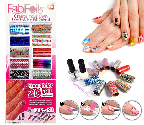 Украшения для ногтей Fab Foils , наклейки для ногтей