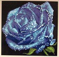 """Картина стразами """"Синяя роза"""" 32х31 см"""