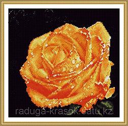 """Картина стразами """"Желтая роза"""" 32х31 см"""