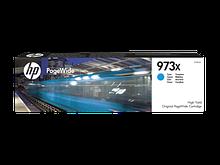 HP F6T81AE, Оригинальный картридж HP PageWide увеличенной емкости, Голубой, HP 973X