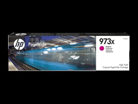 HP F6T82AE , Оригинальный картридж HP PageWide увеличенной емкости, Красный, HP 973X