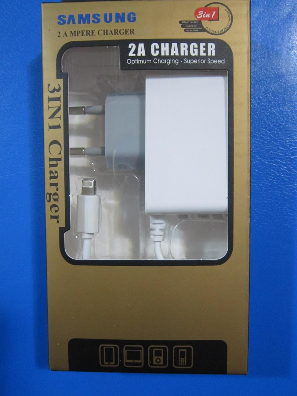 Зарядное устройство для iphone 6s 1A, 2USB