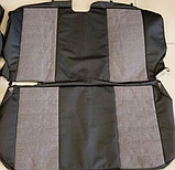 Комплект чехлов (комб, экокожа+лен) Лада Самара/Самара-2 , фото 2