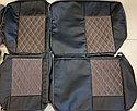 Комплект чехлов (комб.экокожа + автовелюр) Лада Приора универсал ВАЗ 2171 с 2011 г.в., фото 2