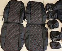 Комплект чехлов (комб.экокожа + перфорированная кожа) Лада Приора седан ВАЗ 2170 до 2011 г.в., фото 1
