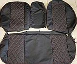 Комплект чехлов (комб.экокожа + перфорированная кожа) Лада Приора седан ВАЗ 2170 до 2011 г.в., фото 2