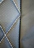 Комплект чехлов (комб.экокожа + перфорированная кожа) Лада Приора седан ВАЗ 2170 с 2011 г.в., фото 3