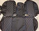 Комплект чехлов (комб.экокожа + перфорированная кожа) Лада Приора седан ВАЗ 2170 с 2011 г.в., фото 2