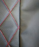 Комплект чехлов (комб.экокожа + перфорированная кожа) Лада Приора седан ВАЗ 2170 до 2011 г.в., фото 3