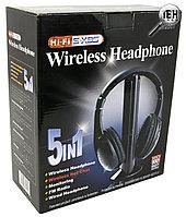 Беспроводные наушники 5 в 1 Hi-Fi S-XBS с FM приемником, фото 1