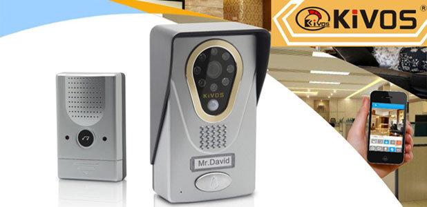 Новинка! WIFI Видеодомофон KIVOS-400. Отвечайте вашим гостям с любой точки планеты с помощью смартфона!