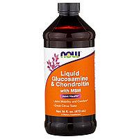 Now Foods, Жидкий Глюкозамин и Хондроитин с Метилсульфонилметаном,  (473 мл)