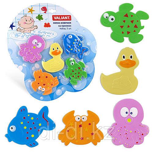 VALIANT Набор мини-ковриков для ванной комнаты МИКС (на присосках)