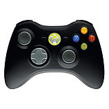 Беспроводной контроллер Wireless Original Black (Xbox 360), фото 4