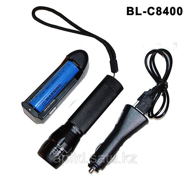 Фонарик светодиодный с аккумулятором + зарядка Tavalga - фото 1