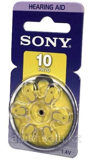 Батарейки таблетки для слуховых аппаратов Sony PR10D6A(+10)