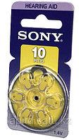 Батарейки таблетки для слуховых аппаратов Sony PR10D6A(+10), фото 1