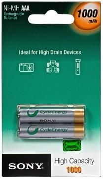 Аккумуляторы ААА Sony NiMN 1000mAh 2 шт