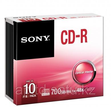 Диски CD-R  700MB 80 МИН slim 10CDQ80SS Sony