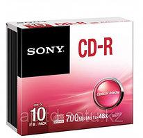 CD-R Диски 700MB 80 МИН slim 10CDQ80SS Sony