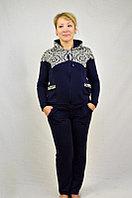 Модный спортивный женский костюм с капюшоном