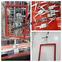 Универсальные ценникодержатели на зажимах-прищепках широко используются в магазинах разных форматов.