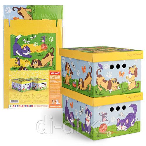 VALIANT Короб картонный, складной, малый, 25*33*18.5 см, набор 2 шт., КИСКИ&СОБАЧКИ