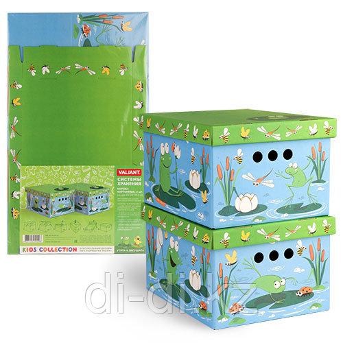 VALIANT Короб картонный, складной, малый, 25*33*18.5 см, набор 2 шт., УТЯТА&ЛЯГУШАТА