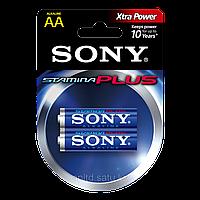 Батарейки LR6 AA пальчиковые Sony AM3B2D Stamina Plus, 2шт