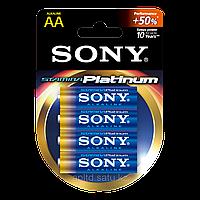 Батарейки LR6 AA пальчиковые Sony AM3PTB4D Stamina Platinum, 4 шт