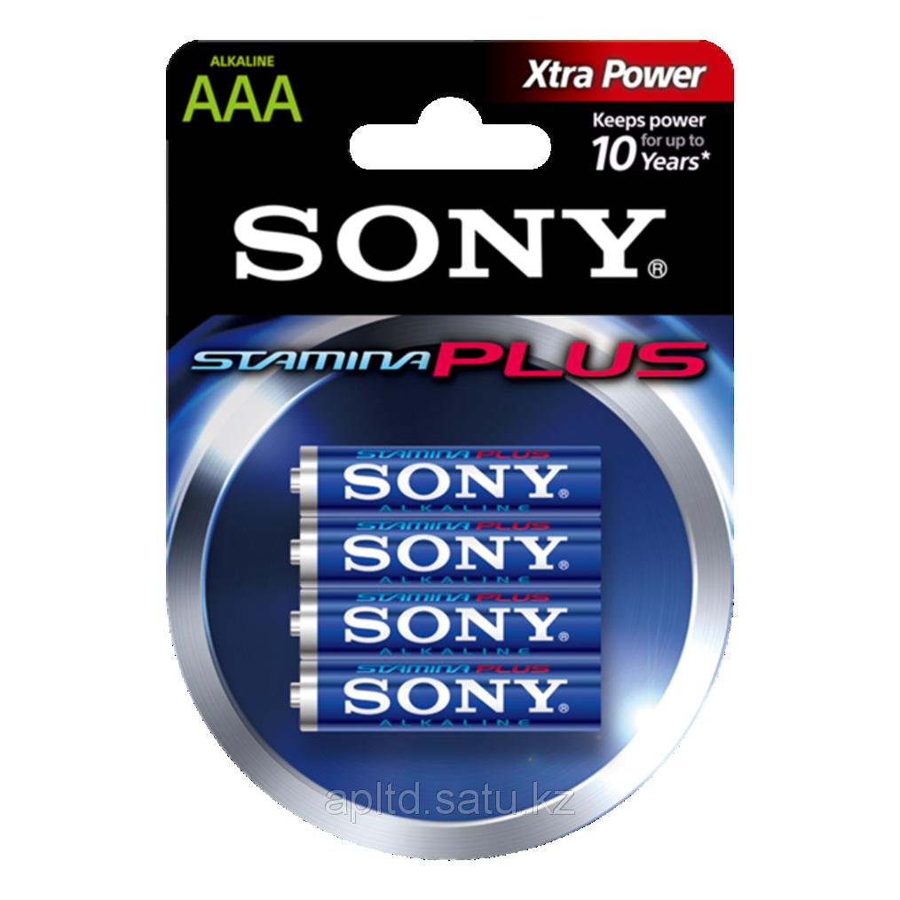 Батарейки LR3 AAA мизинчиковые Sony AM4B4D Stamina Plus, 4 шт