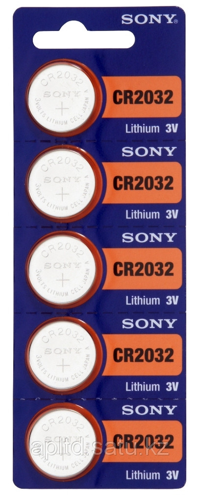 Часовая таблетка Sony CR2032 CR2032BEA 1 шт на часы, калькулятор, сигнализацию