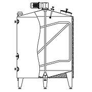 Ёмкость универсальная RUT-ICA, AISI 304, изолированная, с рубашкой нагрева/охлаждения, с мешалкой