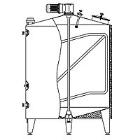 Ёмкость универсальная RUT 1.0-ICA, 1.000 л, AISI 304, изолированная, с рубашкой нагрева/охлаждения, с мешалкой