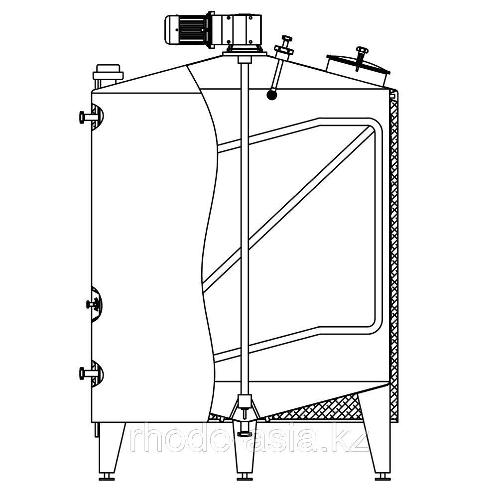 Ёмкость универсальная RUT 2.5-ICA, 2.530 л, AISI 304, изолированная, с рубашкой нагрева/охлаждения, с мешалкой