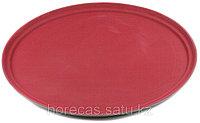 Поднос прорезиненный овальный 680х45 мм бордовый [2700CT Dark red]