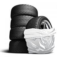 Пакеты для шин  113*115 плотные, черные.