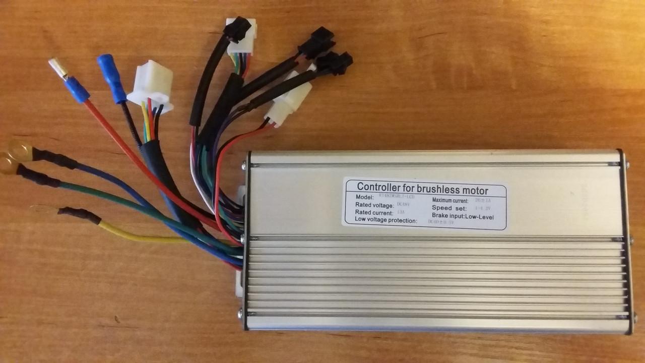Контроллер на мотор с датчиками холла 48 v  1000 w  с выходом на дисплей  KT-LCD3